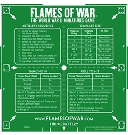 Flames of War AT001I FOW Template Artillery Green