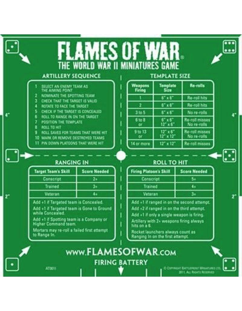 Flames of War AT001I FOW Template Artillery Green - Legions Hobbies ...