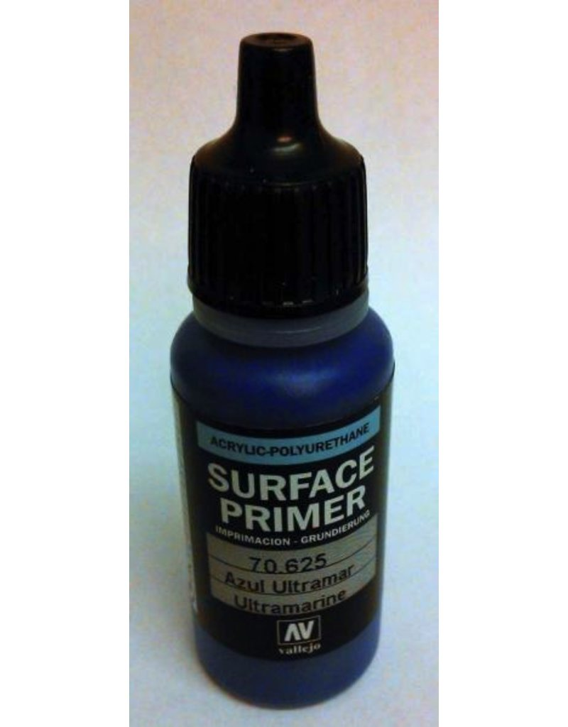 Vallejo VAL70625 Game Air Primer: 17ml Ultramarine