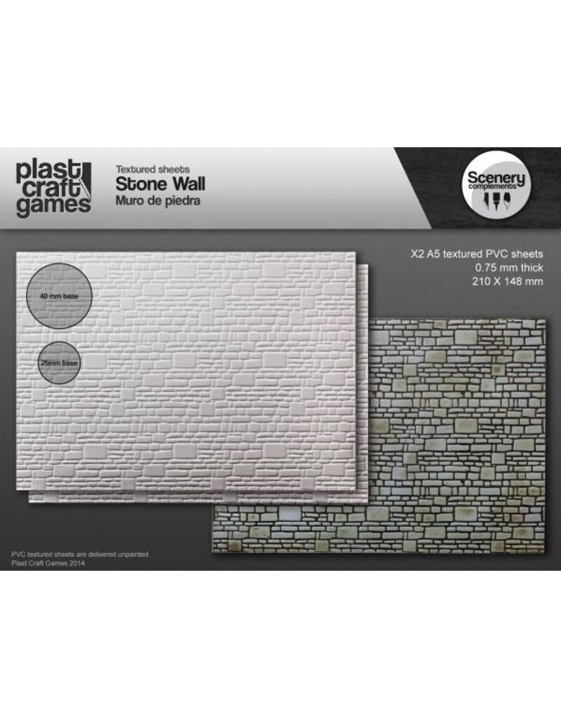 Plast Craft 28mm Scenery Compliments: Stone Wall