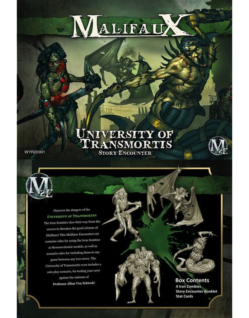 Wyrd miniatures WYR20901 Iron Zombies Box Set: The University Transmortis
