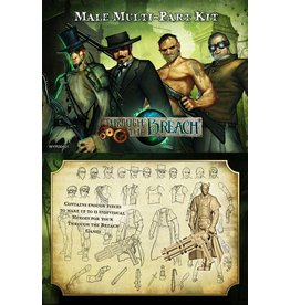 Wyrd miniatures WYR30401 Through the Breach RPG: Male Multi-Pose Figures (11)