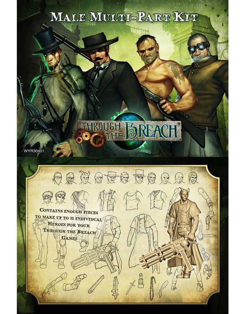 Wyrd miniatures WYR30401 Through the Breach RPG: Male Multi-Pose Figures (11)