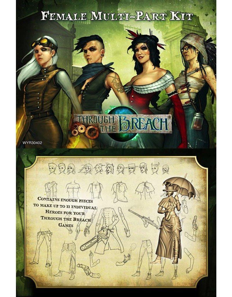 Wyrd miniatures WYR30402 Through the Breach RPG: Female Multi-Pose Figures (11)