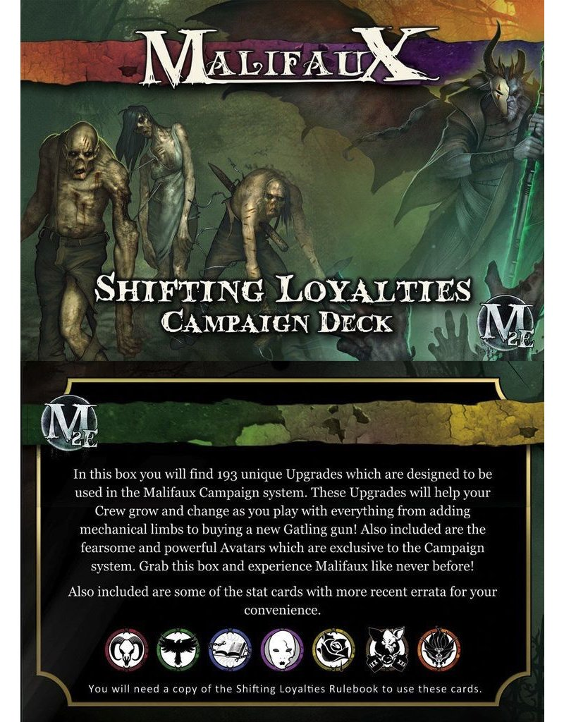 Wyrd miniatures WYR20030 Malifaux: Shifting Loyalties Campaign Deck