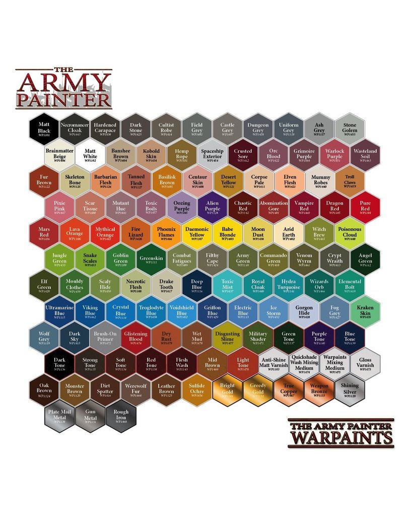 Army Painter WP1101 Army Painter: Warpaints Matt Black 18ml