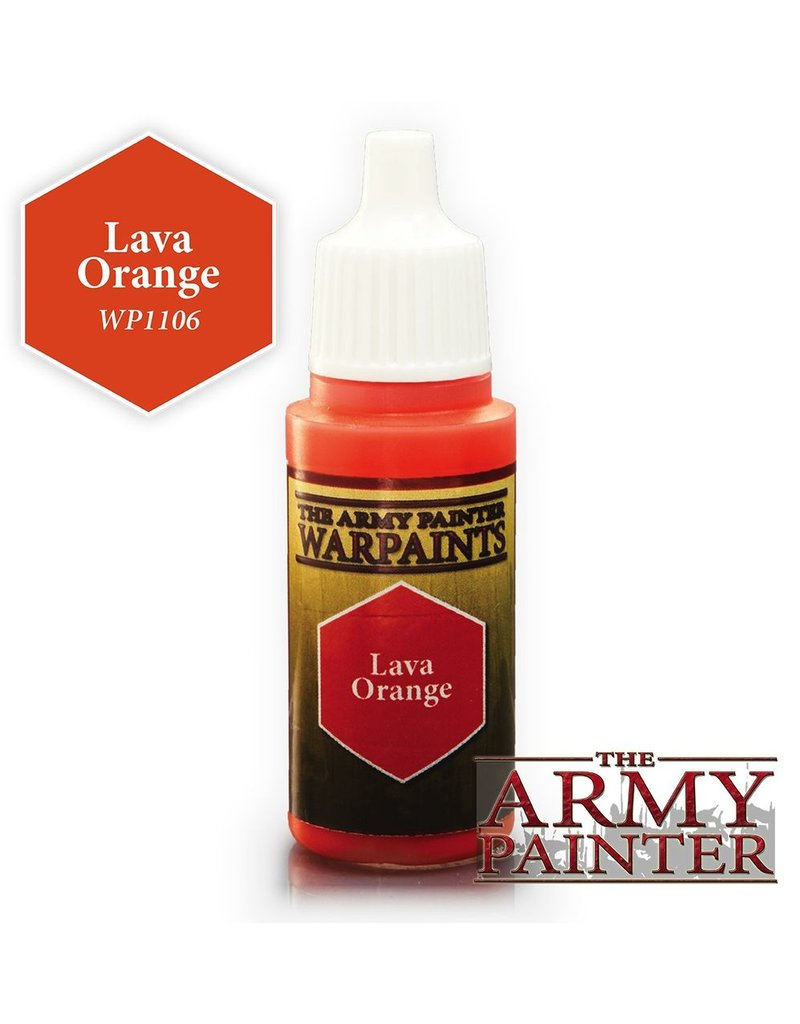 Army Painter WP1106 Army Painter: Warpaints Lava Orange 18ml