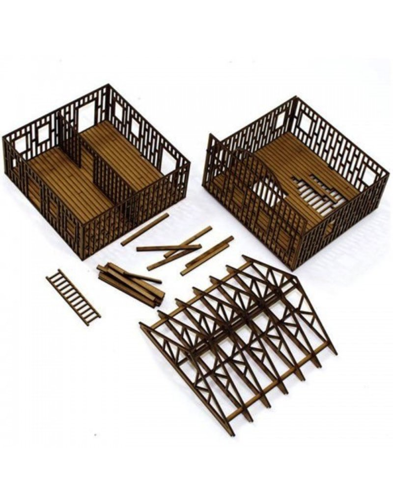 4Ground Miniatures DIRECT 28mm Dead Man's Hand: Two Storey Building Under Construction
