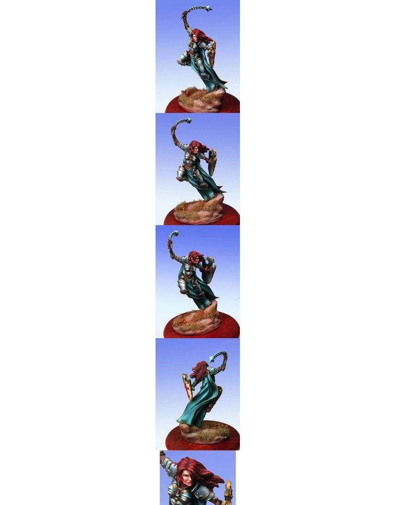 Dark Sword Miniatures VIF Female Paladin with Sword or Morning Star