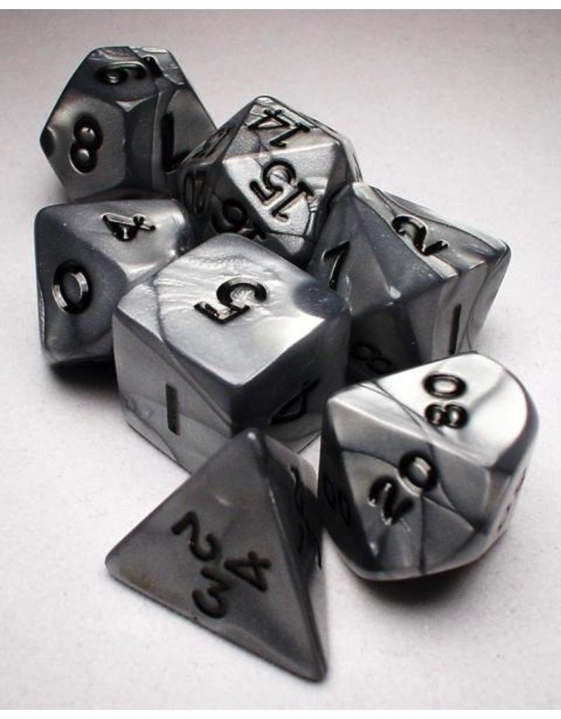 Koplow Silver/Black Olympic Polyhedral 7-Die Set