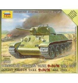 Zvezda ZVE6101 ZVEZDA WWII: Soviet Medium Tank T-34/76 (mod 1940)