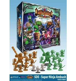 Soda Pop Miniatures Super Dungeon Explore: Super Ninja Ambush! Deluxe Warband