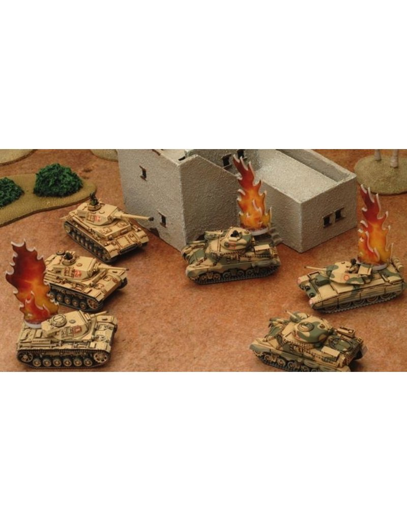 Flames of War AT005 Destroyed Markers