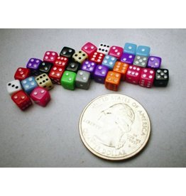 Koplow Miniature Dice: Assorted Opaque 5mm d6 (~30)