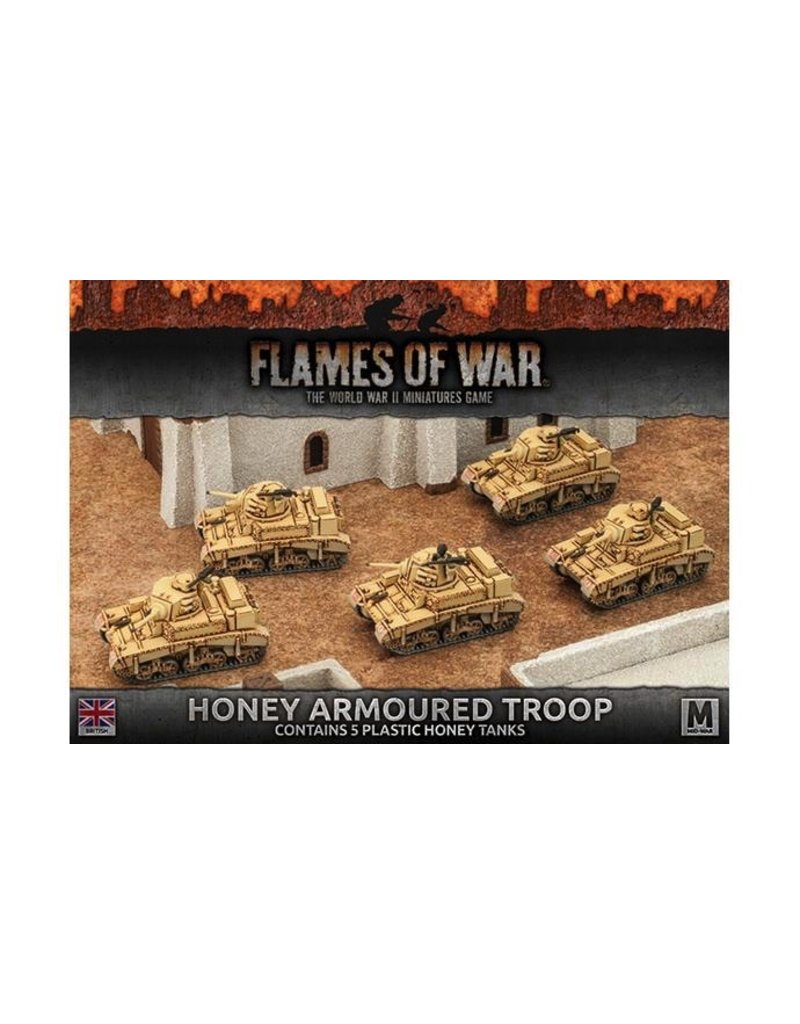 Flames of War BBX32 Honey Armoured Troop (Plastic)