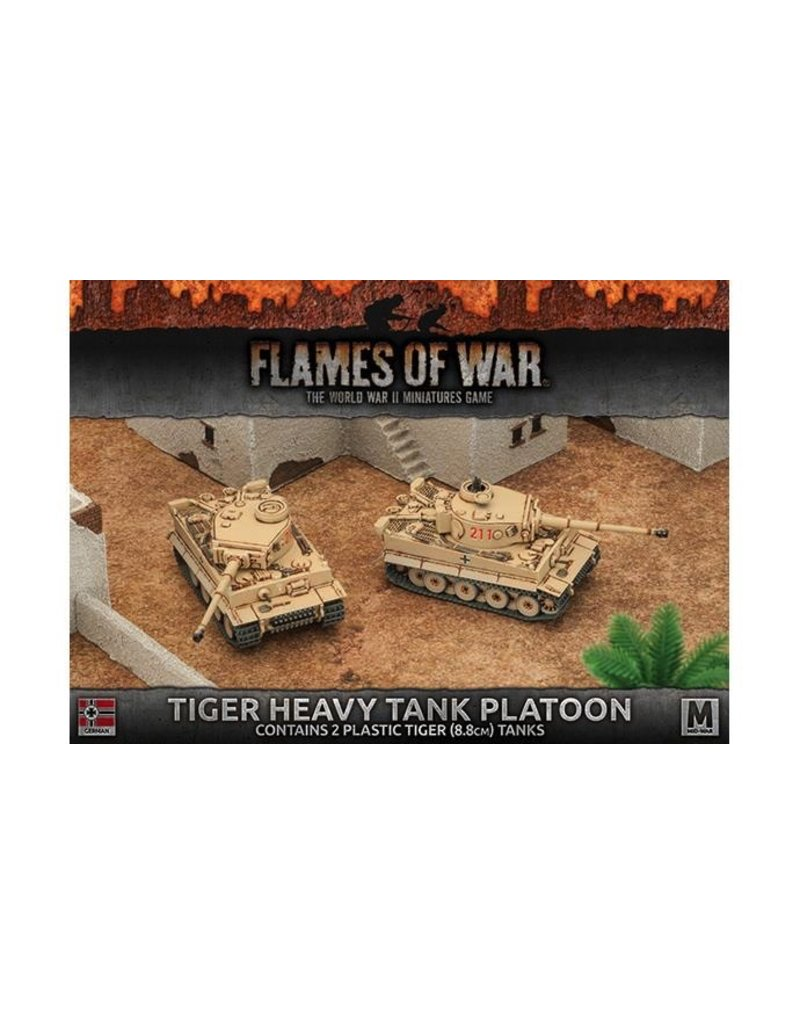 Flames of War GBX99 Tiger Heavy Tank Platoon (Plastic)