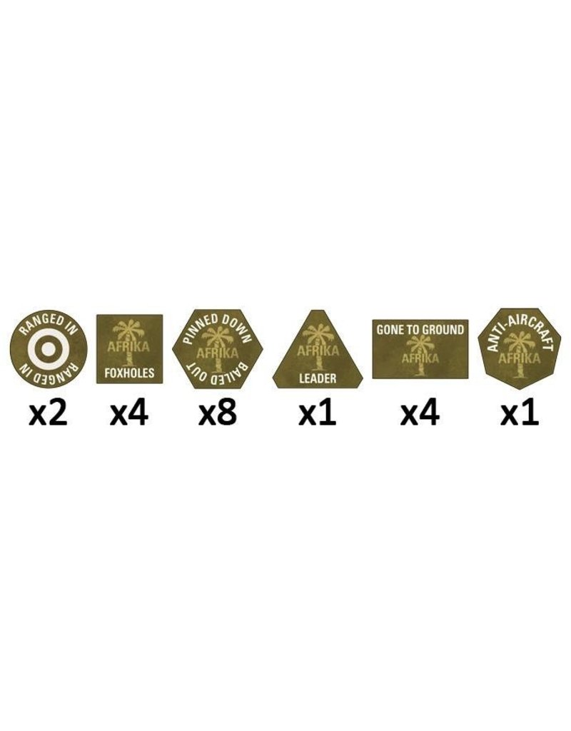 Flames of War GE901 Afrika Korps Tokens