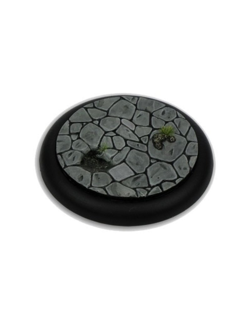 Secret Weapon Miniatures Round Lip: 50mm Town Square Base 04<br />