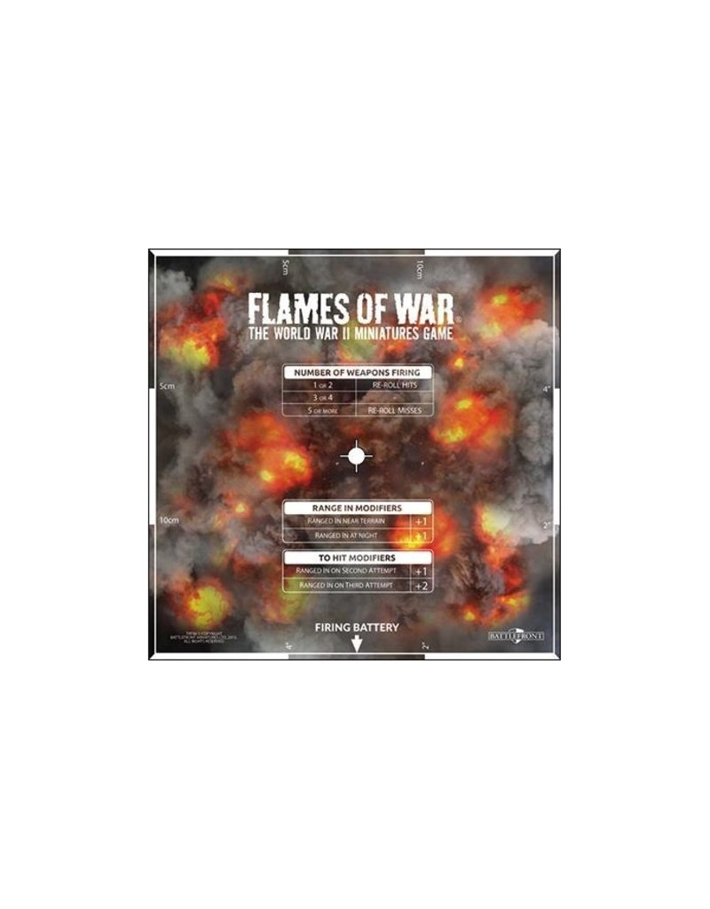 Flames of War AT007 Artillery Template
