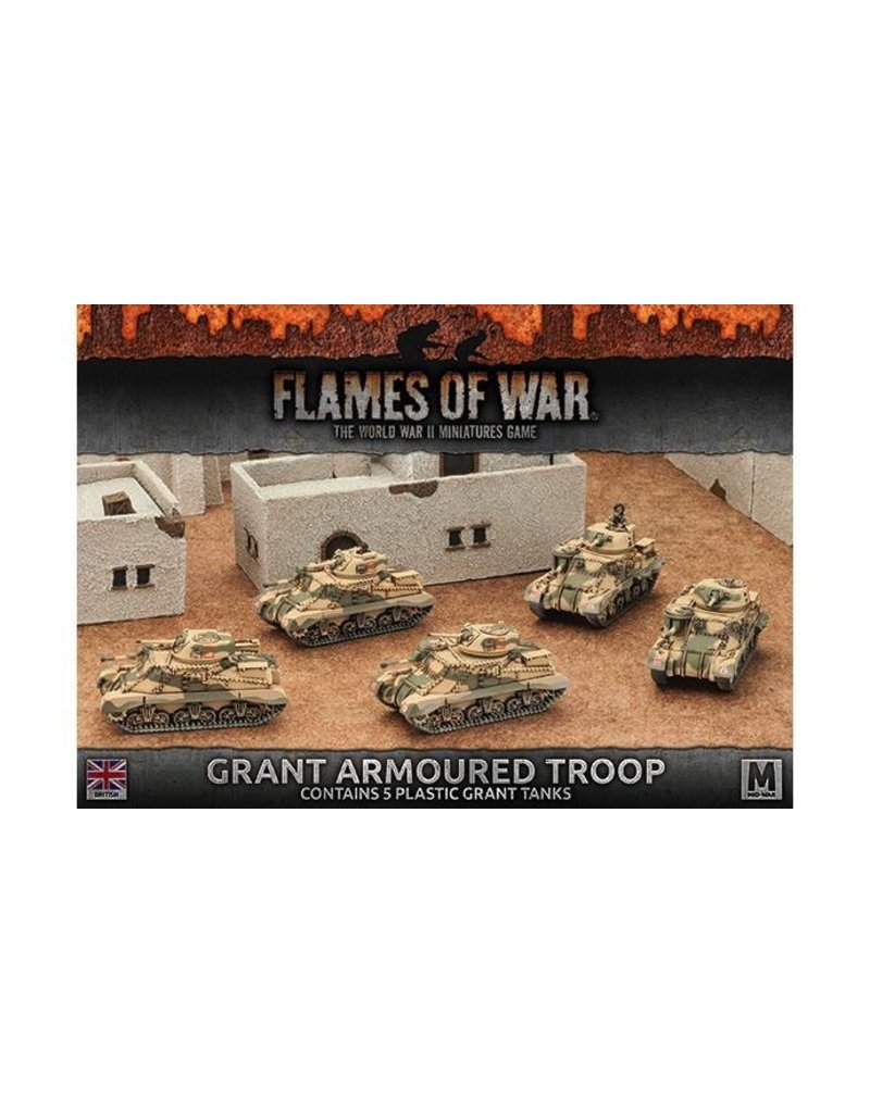 Flames of War BBX37 Grant Armoured Troop (Plastic)