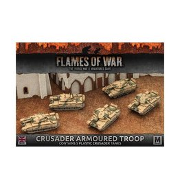 Flames of War BBX39 Crusader Armoured Troop (Plastic)