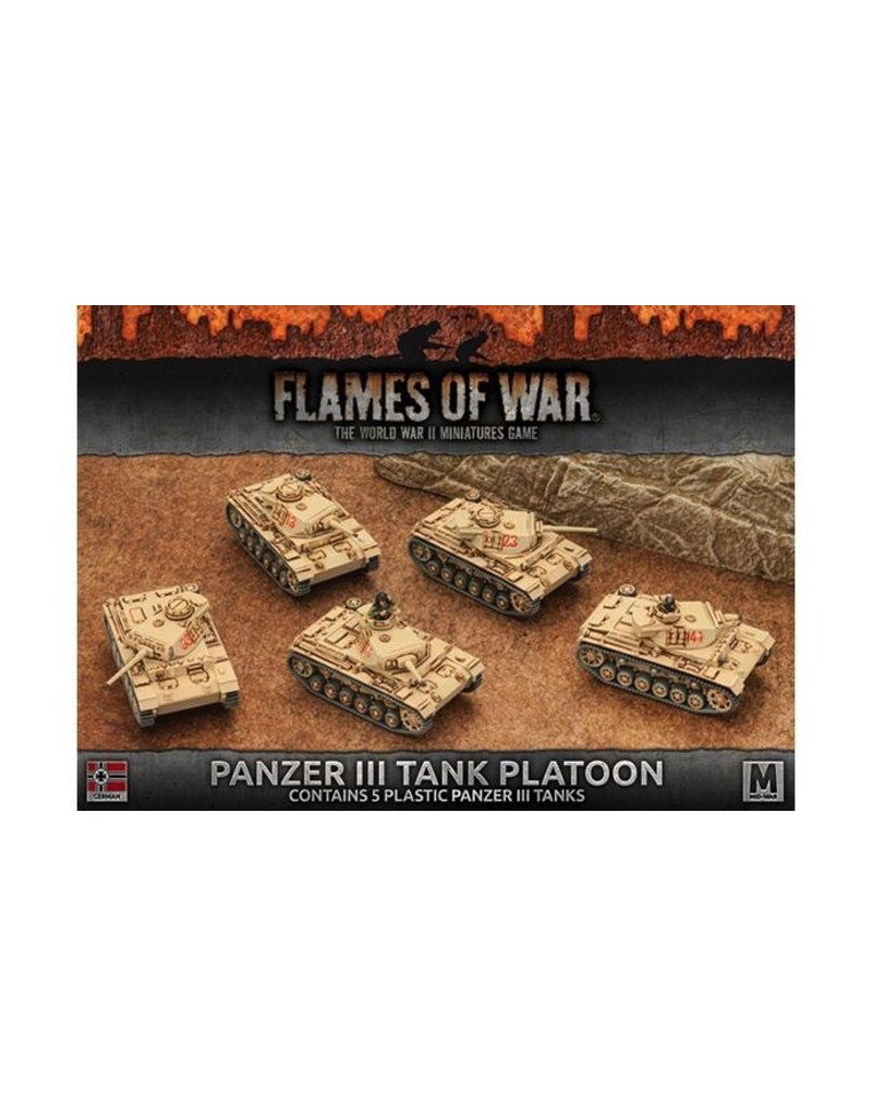 Flames of War GBX96 Panzer III Tank Platoon (Plastic)