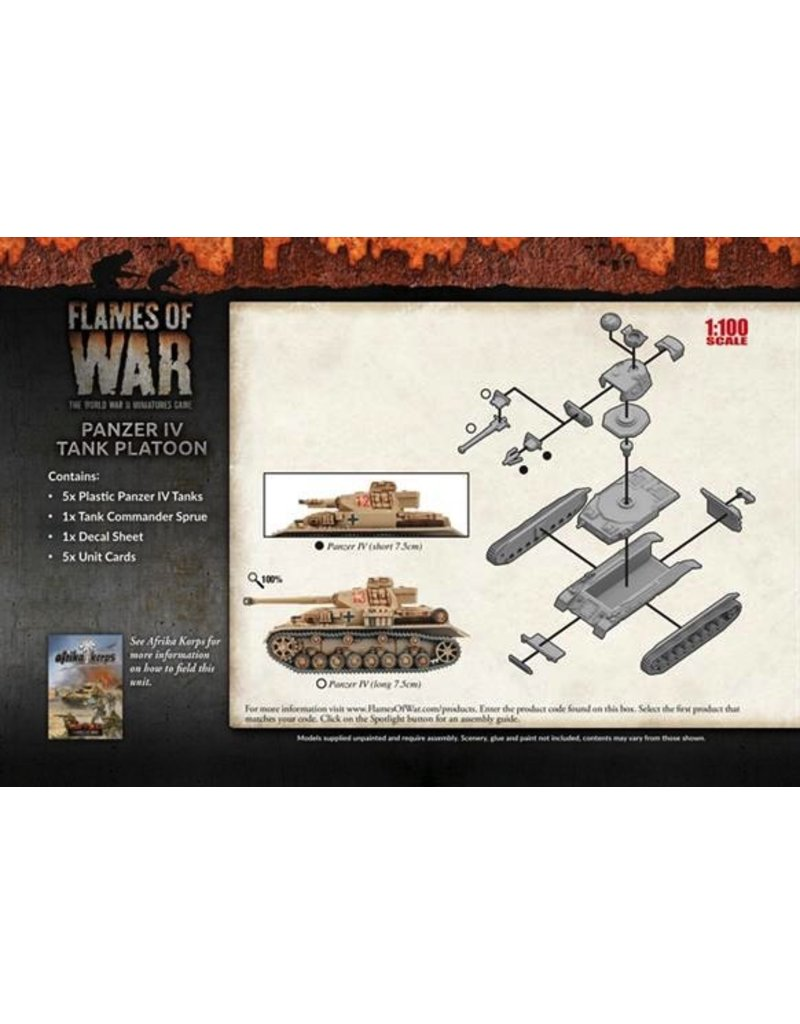 Flames of War GBX97 Panzer IV Tank Platoon (Plastic)