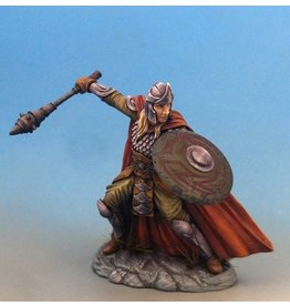 Dark Sword Miniatures ViF Male Warrior/Cleric with 3 Weapon Options and Shield (Mace, Sword, Axe)