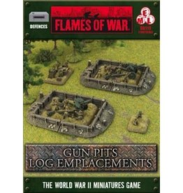 Flames of War BB119 Gun Pit Markers Log Emplacement