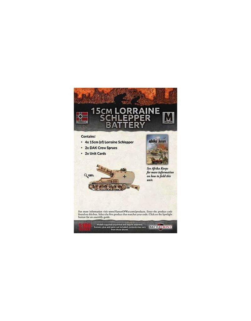 Flames of War GBX95 15cm (Sf) Lorraine Schlepper Artillery Battery