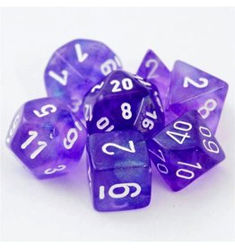 Chessex CHX27407 7 Set Borealis Purple with White
