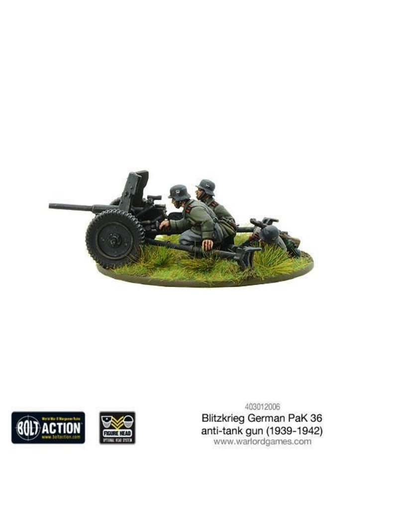 Bolt Action BA German Army: Blitzkrieg Pak 36 Anti-Tank Gun (1939-1942)