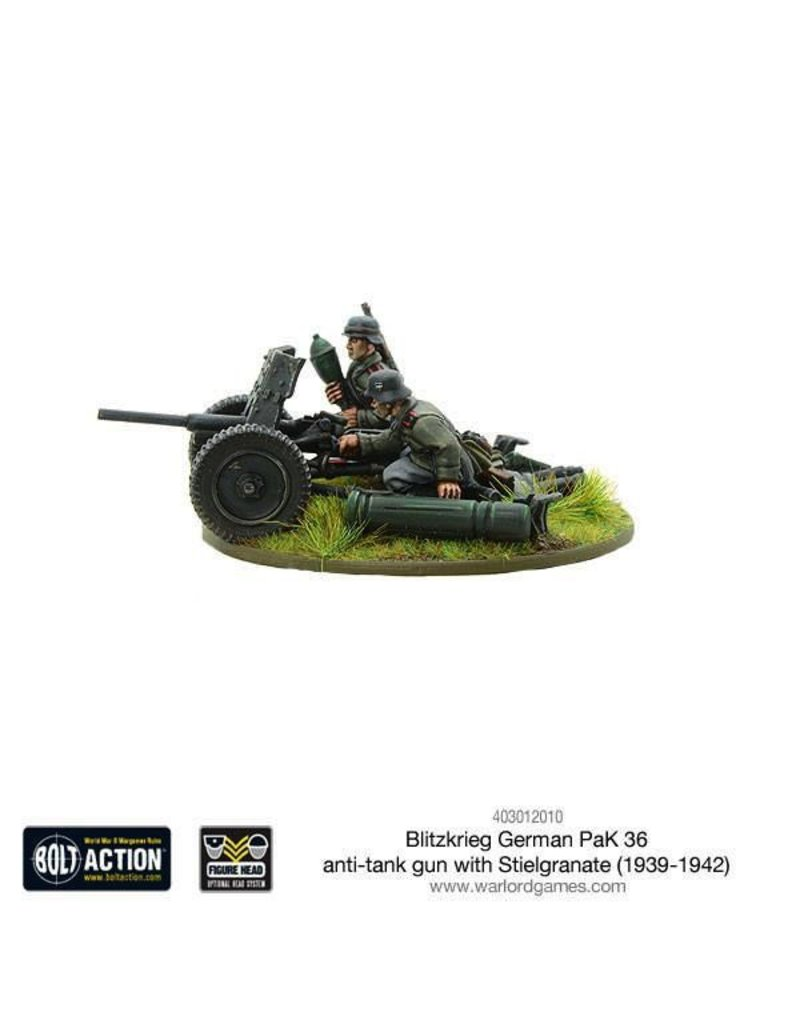 Bolt Action BA German Army: Blitzkrieg Pak 36 anti-tank gun with stielgranate