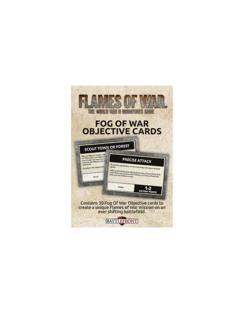 Flames of War FW007O Fog of War Objective Cards