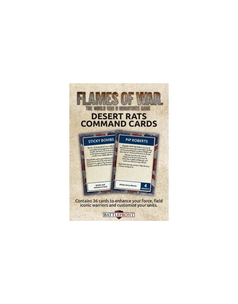 Flames of War FW241C Desert Rats Command Cards