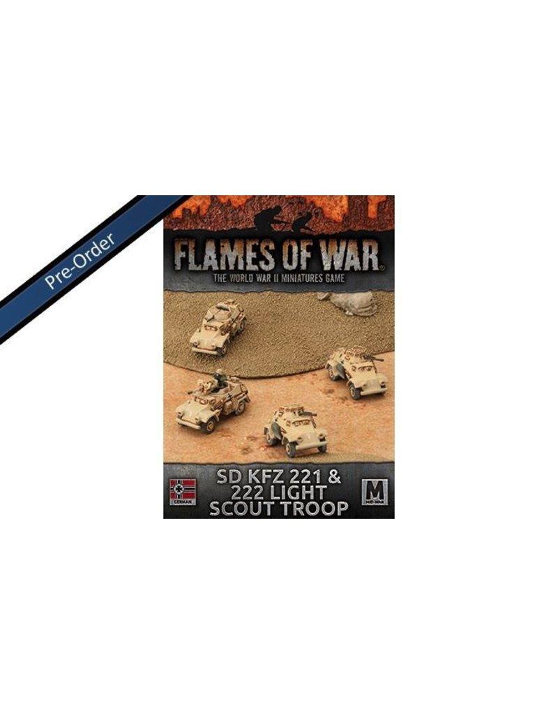 Flames of War GBX92 Sd Kfz 221 & 222 Light Scout Troop