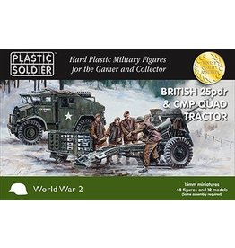 Plastic Soldier Company 15mm British 25pdr & CMP Quad Tractor