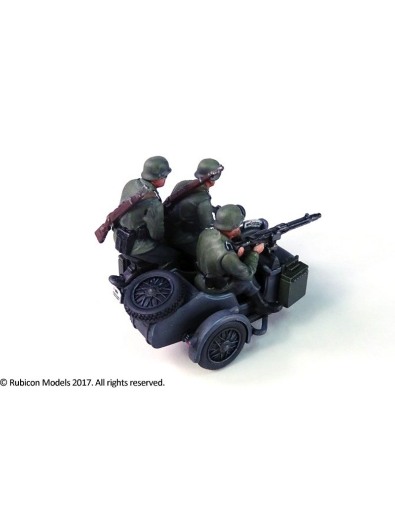 Rubicon Models DIRECT 28mm Rubicon Models: German Motorcycle R75 with Sidecar (ETO)