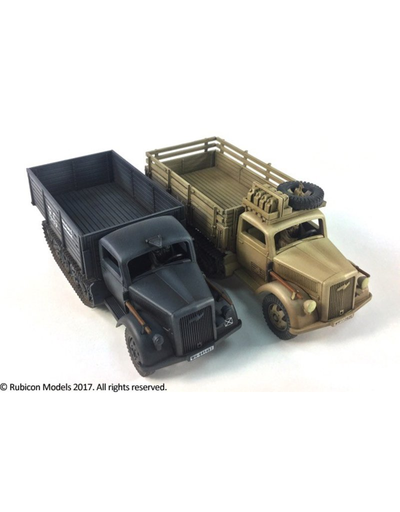 Rubicon Models DIRECT 28mm Rubicon Models: SdKfz 3a Maultier 2 ton Half-Track Cargo Truck