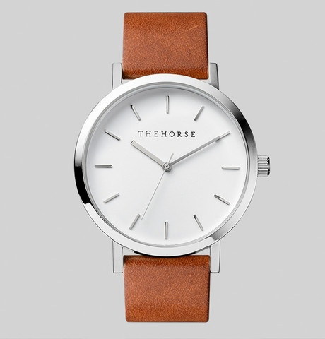 The Horse THE HORSE | WATCH | POLISHED STEEL / WHITE FACE / TAN