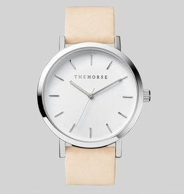 The Horse THE HORSE | WATCH | POLISHED STEEL / WHITE FACE / VEGETABLE TAN
