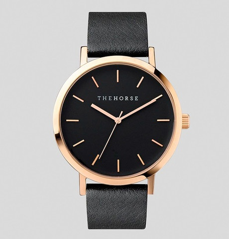 The Horse THE HORSE | WATCH | POLISHED ROSE GOLD / BLACK