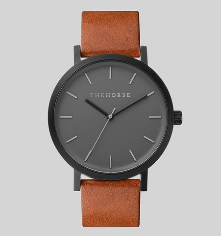 The Horse THE HORSE | WATCH | MATTE BLACK / TAN