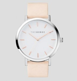 The Horse THE HORSE | WATCH | POLISHED STEEL / WHITE FACE ROSE GOLD INDEXING