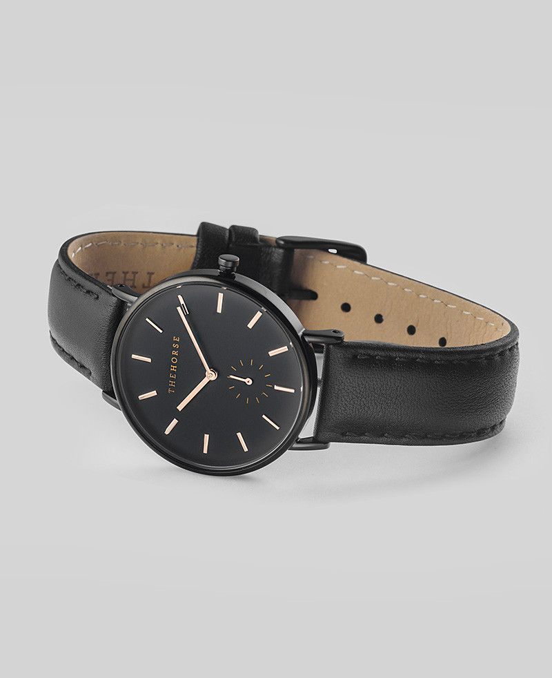 The Horse THE HORSE | WATCH | BLACK / ROSE GOLD INDEX / BLACK LEATHER