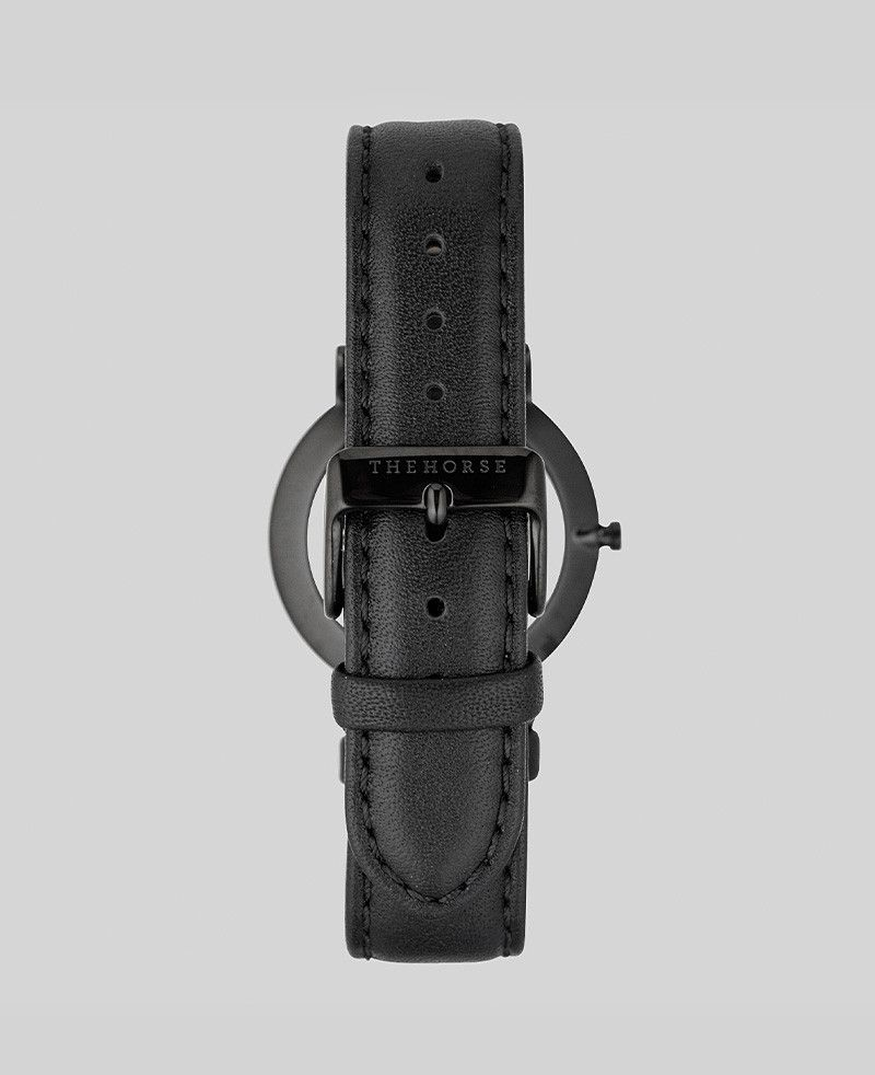 The Horse THE HORSE   WATCH   BLACK / ROSE GOLD INDEX / BLACK LEATHER