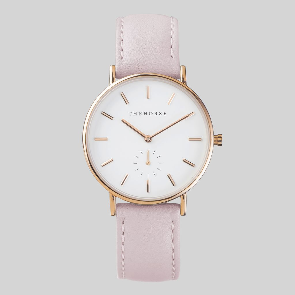 The Horse THE HORSE | WATCH | ROSE GOLD, WHITE DIAL, PINK BAND