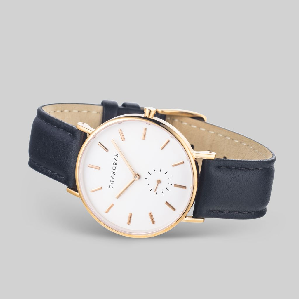 The Horse THE HORSE | WATCH | ROSE GOLD, WHITE DIAL, BLACK BAND