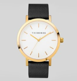 The Horse THE HORSE | WATCH | GOLD CASE/WHITE DIAL/BLACK BAND