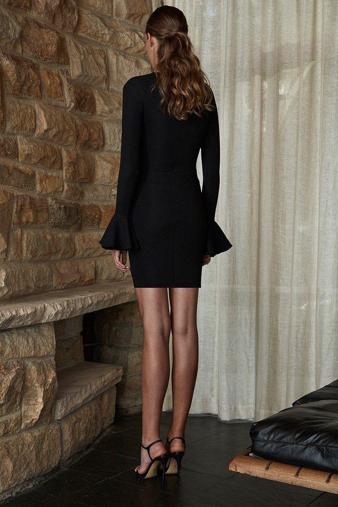 Shona Joy SHONA JOY | LORI | FRILL CUFF TUNIC DRESS